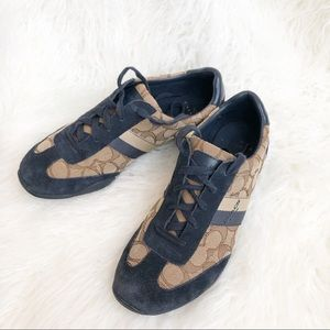 Coach Kelson Sneakers Navy/ Brown Size 8.5